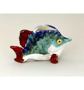 Szalvéta tartó, hal, kék