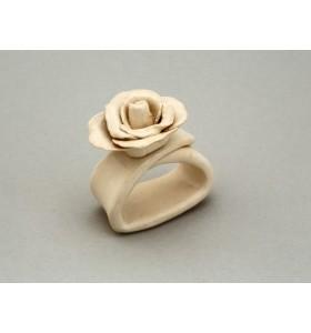 Esküvői dísz, szalvéta gyűrű, virág, rózsa