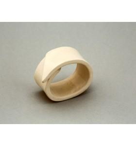 Esküvői dísz, szalvéta gyűrű, sávos, bal, krémszínű
