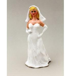 Esküvői dísz, pár, menyasszony, fehér