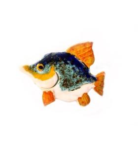 Hal, szem sárga, narancssárga farok, hűtőmágnes