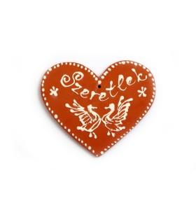Medál, szív, Szeretlek, galambok