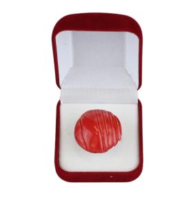 Piros csíkos kerámiagyűrű