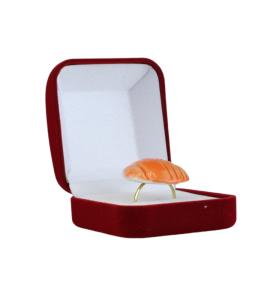 Narancssárga csíkos kerámiagyűrű
