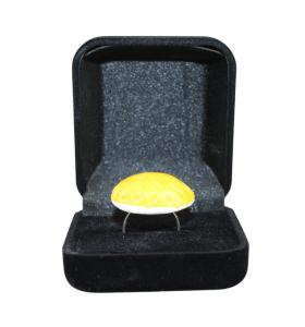 Sárga pöttyös kerámiagyűrű