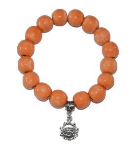 Karkötő, narancs, napocska medál