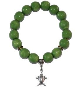 Karkötő, zöld, katica medál