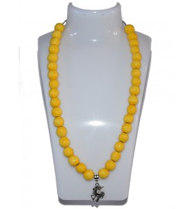 Nyaklánc, sárga, unikornis medál