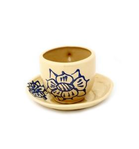 Csésze, kávé, ELEGANT csészealj, fehér