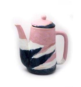 Teáskancsó, henger, rózsaszín szivárvány