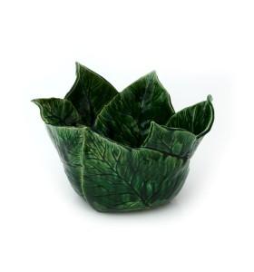 Gyümölcsös tál, zöld, pikkelyes minta