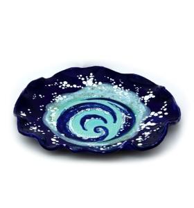 Tányér, kozmosz, kék, világos kék spirál