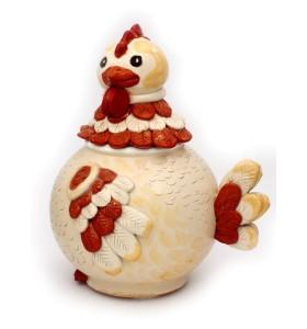 Cukortartó fehér csirke