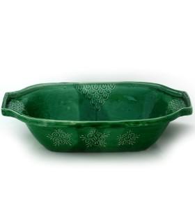 Sütő, téglalap, zöld, virágos és pelyhes színű