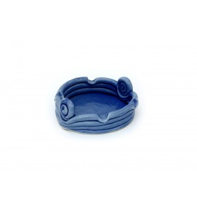 Hamutál, kerek, közepes, kék