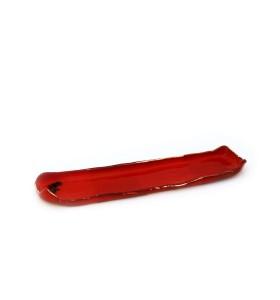 Tálca, sushi, keskeny, hosszú, piros, kínai minta
