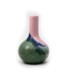 Váza, orchidea, kicsi, kék láva