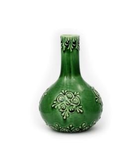 Váza, orchidea, kicsi, zöld, virág azonos színben