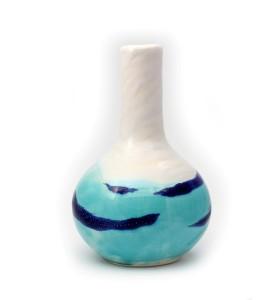Váza, orchidea, kicsi, fehér láva