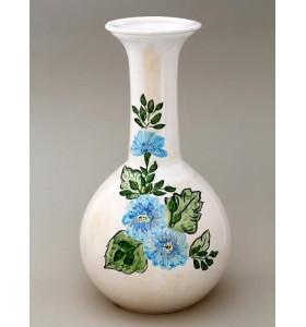 Nagy kék váza virág mintás